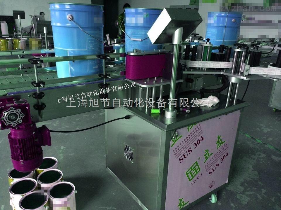 防水涂料桶贴标机 非标准订制油漆桶贴标机