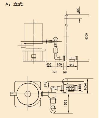 家用燃煤锅炉结构示意图